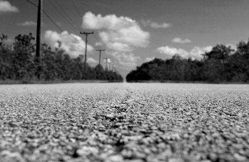 road-bw